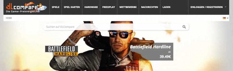 Auf dlcompare.de sind bekannte Features wie in einem Onlineshop zu finden (Bild: Screenshop dlcompare.de).
