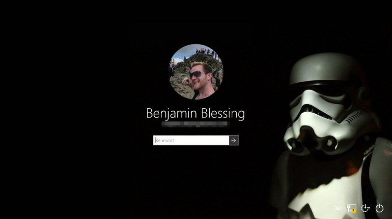 Der Windows 10 Login Hintergrund lässt sich durch ein anderes Bild ersetzen (Bild: Screenshot Windows 10).