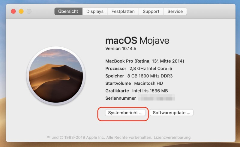 macOS Systembericht