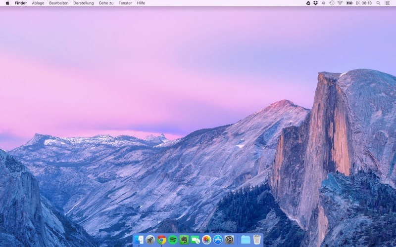 Mac OS X El Capitan Desktop (Bild: Screenshot OS X).