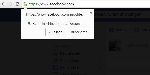 Google Chrome Benachrichtigungen von Webseiten ausschalten