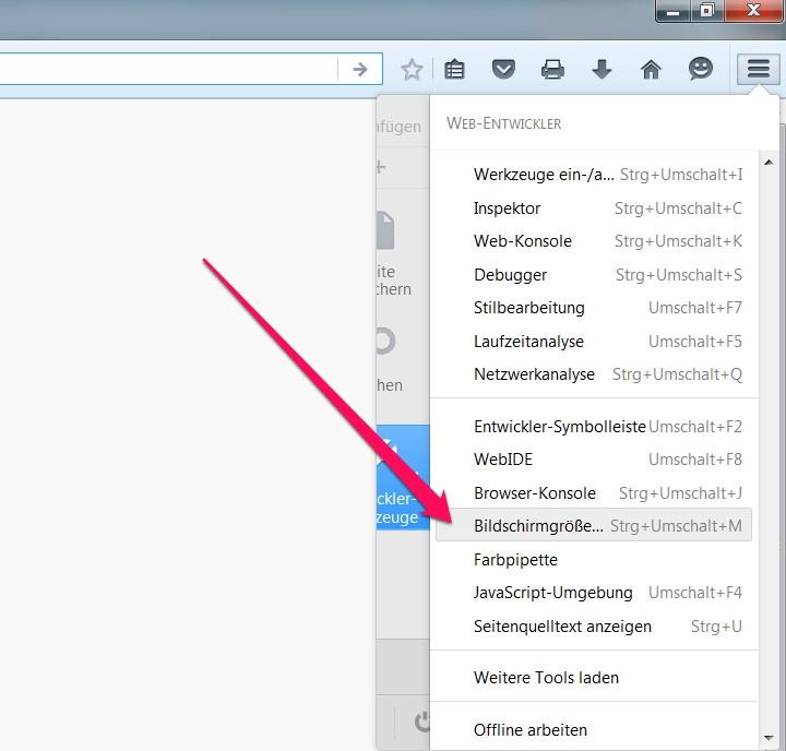 Firefox Bildschirmgröße anpassen