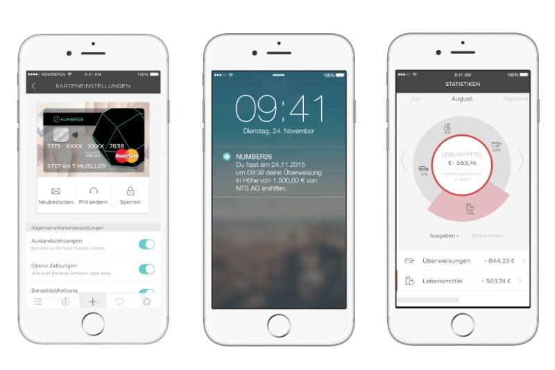 Die N26 App ermöglicht das Sperren und Entsperren der Karten (Bild: N26.de).