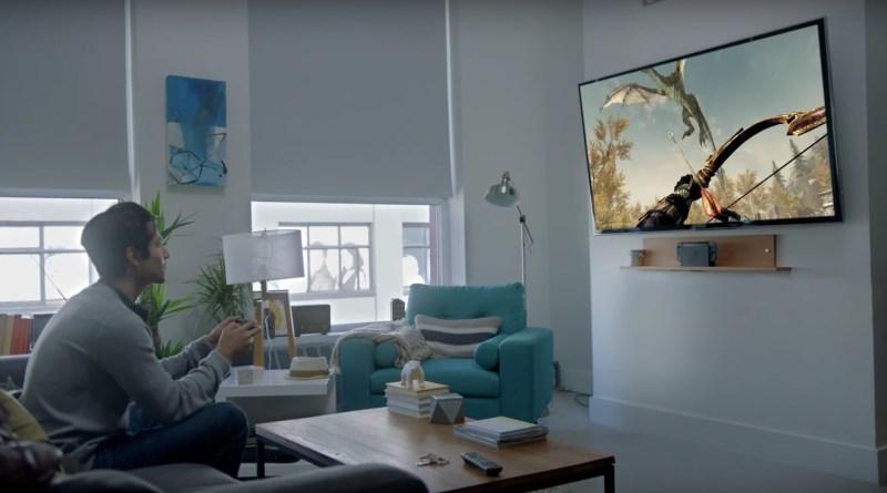 Nintendo Switch Konsole im Wohnzimmer