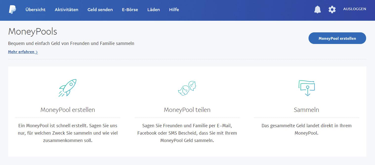 Paypal Moneypools Mit Freunden Geld Sammeln Randombrickde