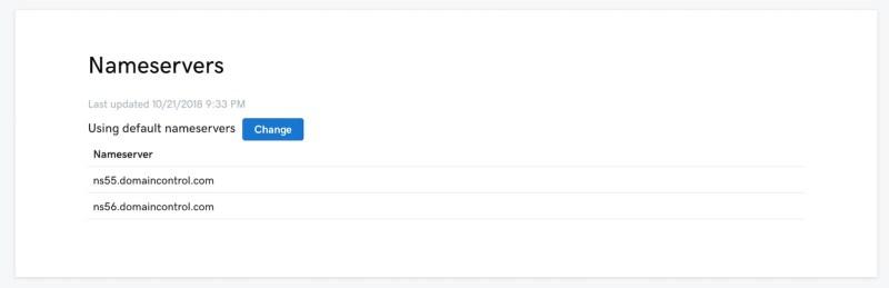 Nameserver einer Domain bei GoDaddy.com ändern