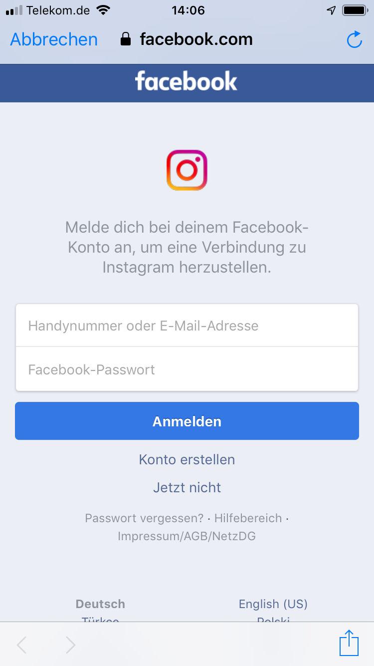 Instagramm Passwort Vergessen