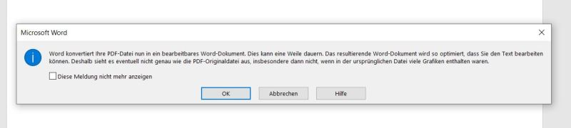 PDF in Word-Datei umwandeln - RandomBrick.de