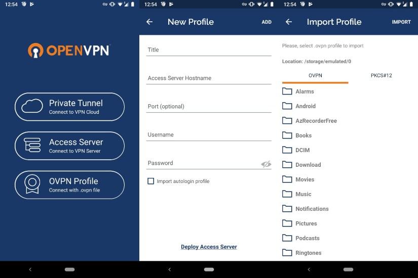OpenVPN für Google Handy einrichten