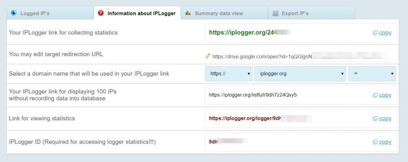 IP-Logger Statistiken