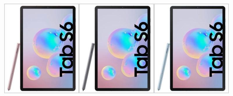 Samsung Galaxy Tab S6 Farbauswahl