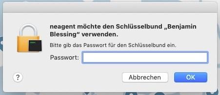 Mac Schlüsselbund: Passwort wird immer wieder abgefragt