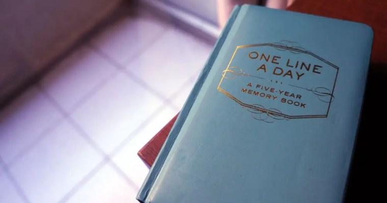 Diário – One Line a Day – Dicas