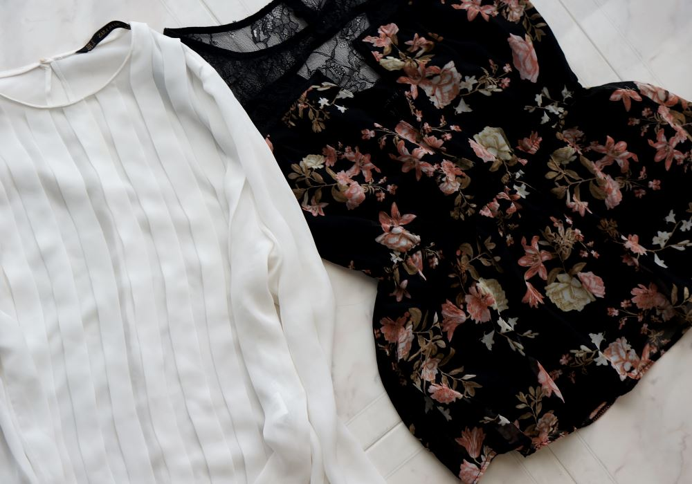Tops Forever 21 and Zara