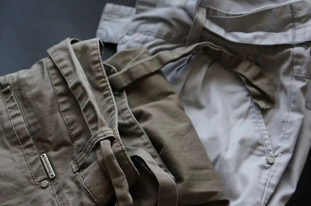 Descoser cinto de tecido de calças