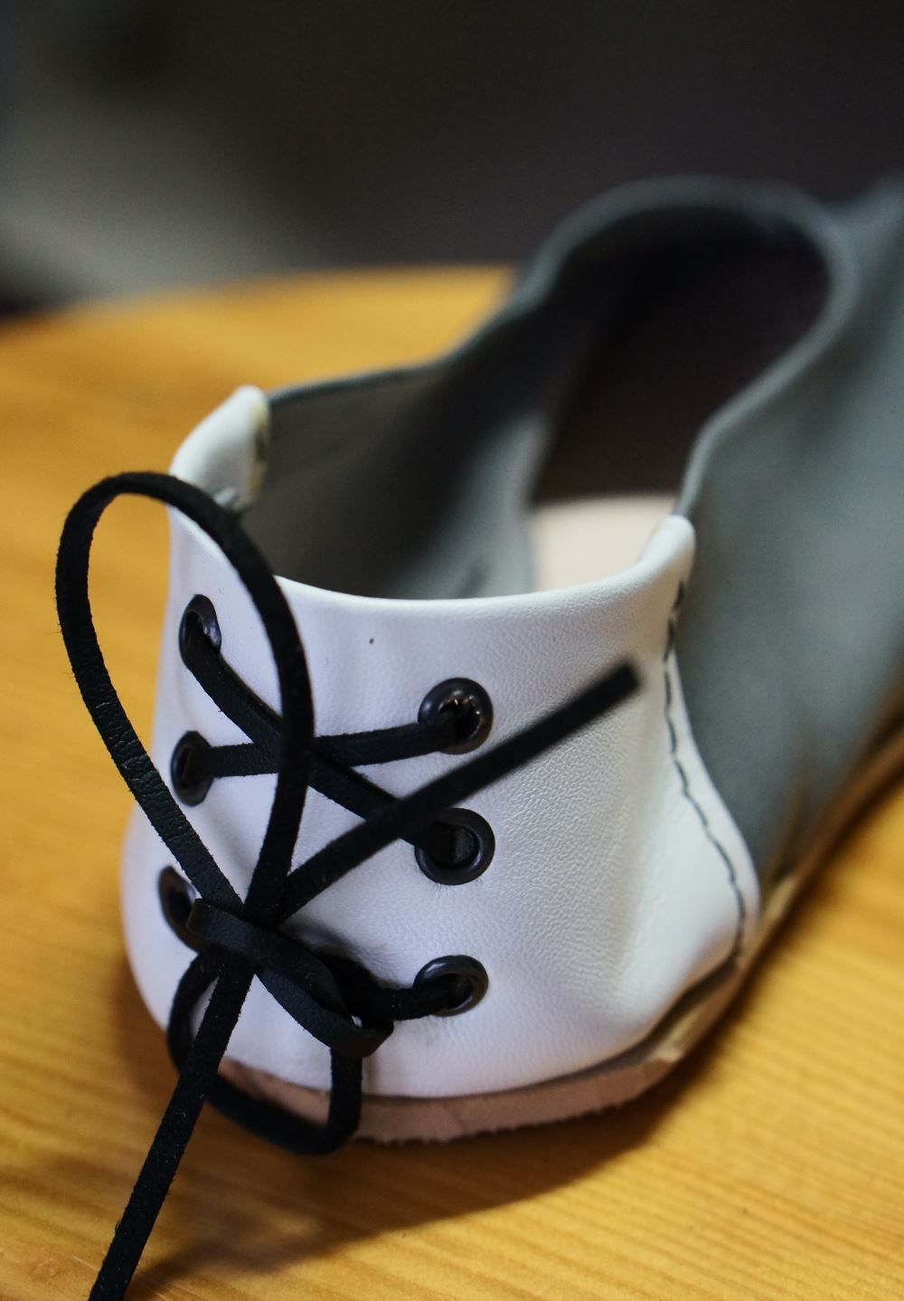 Detalhe sapato terminado