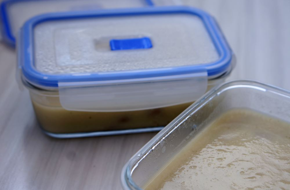 food containers with soup