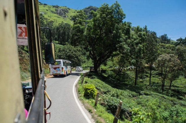 Beautiful landscape on the way to Munnar from Aluva by bus.