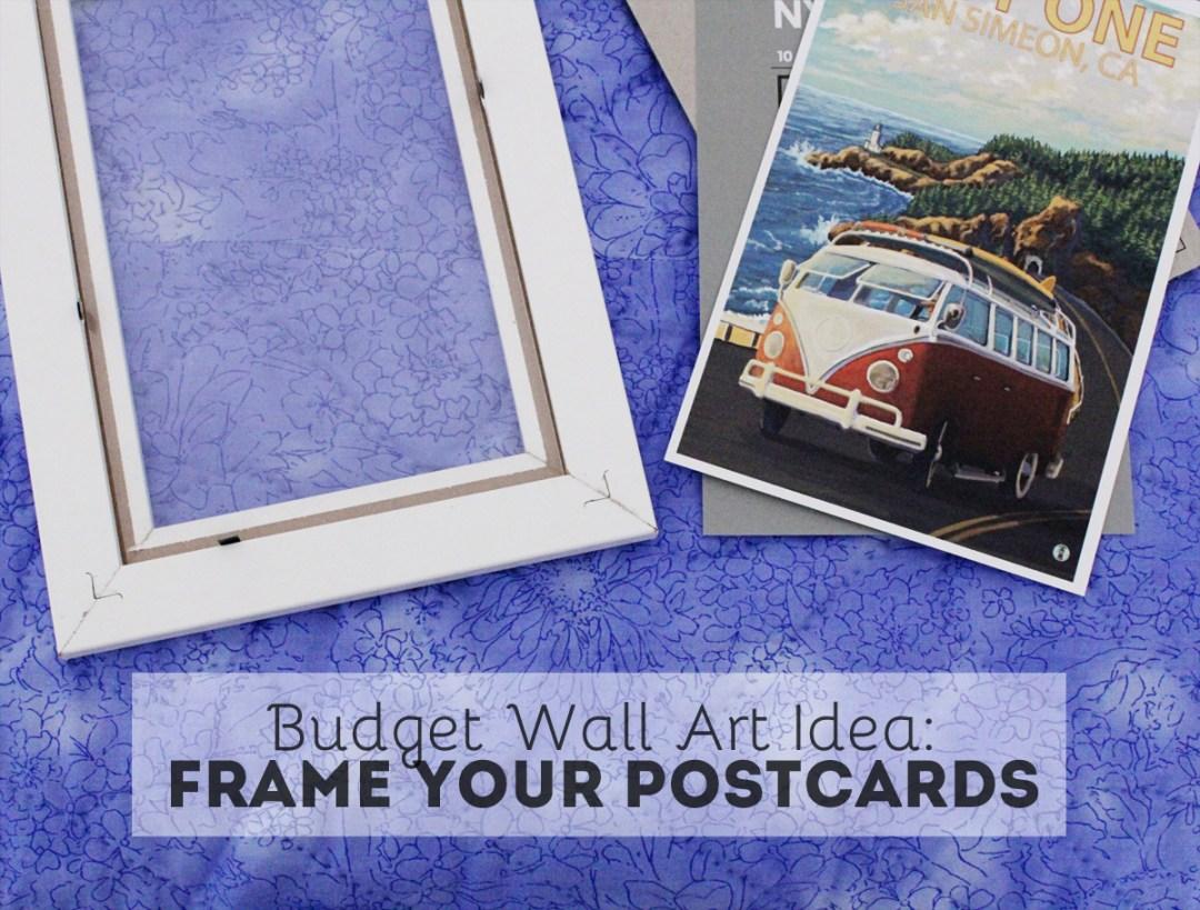 Budget Wall Art Idea: Frame Your Postcards - www.randomolive.com