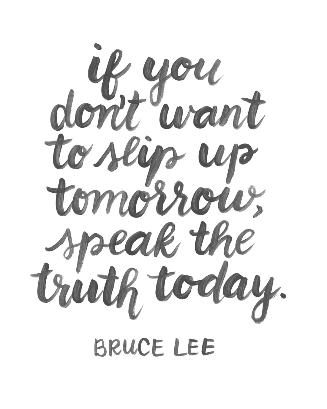 Bruce Lee Truth Quote - www.randomolive.com