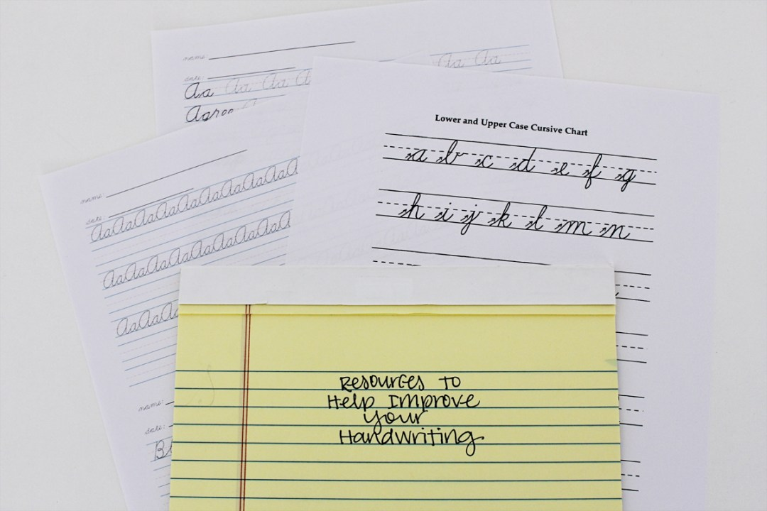 Resources for Improving Your Handwriting - www.randomolive.com
