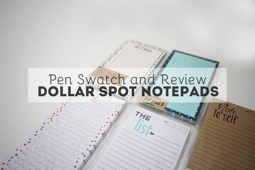 Target Dollar Spot Notepad Review - www.randomolive.com