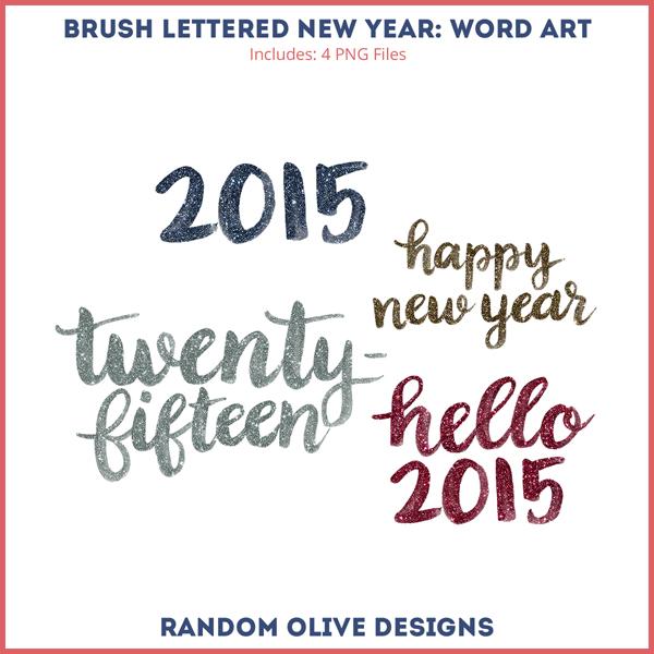 Brush Lettered Word Art - www.randomolive.com