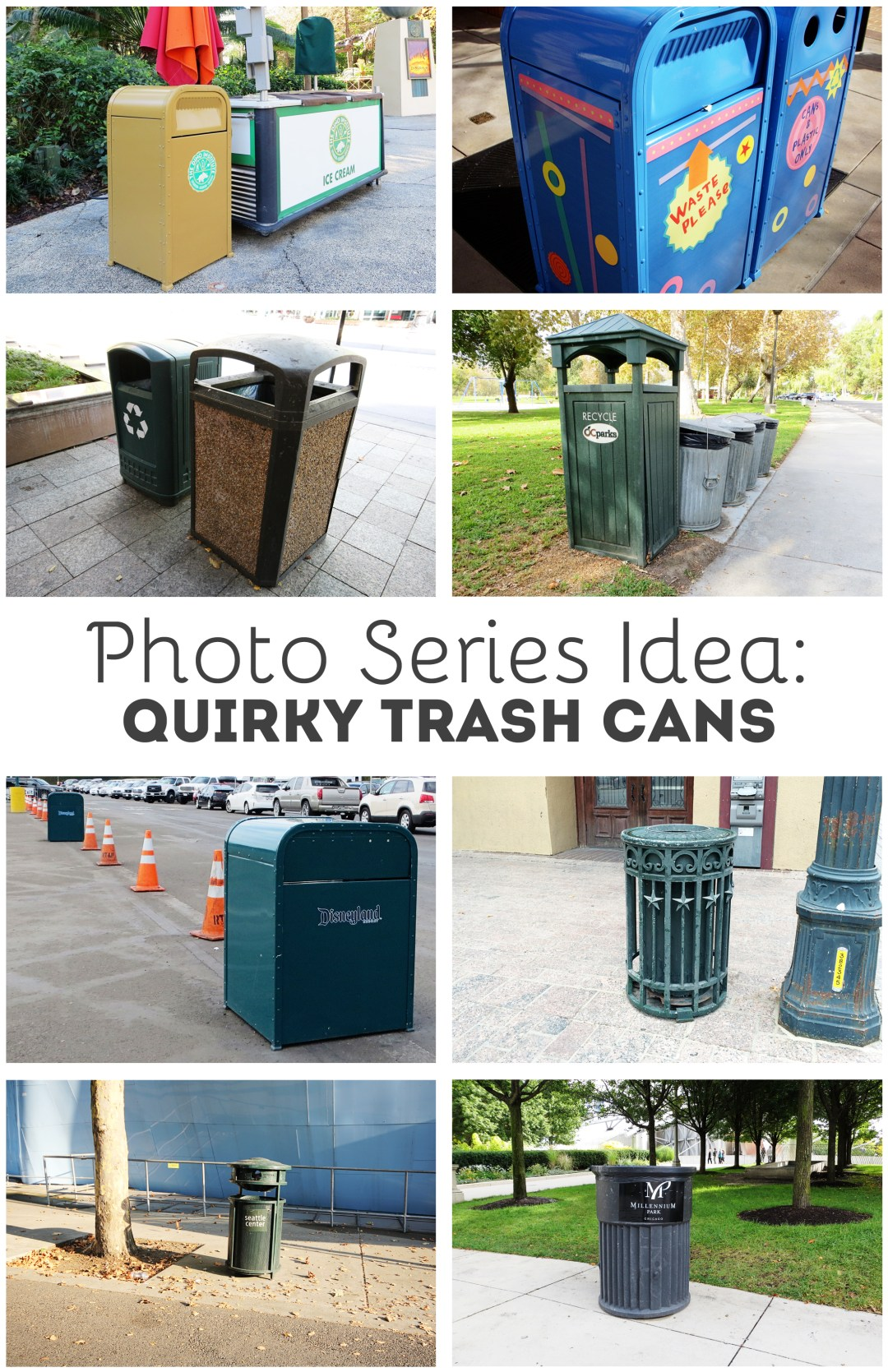 Photo Idea: Document Trash Cans - www.randomolive.com