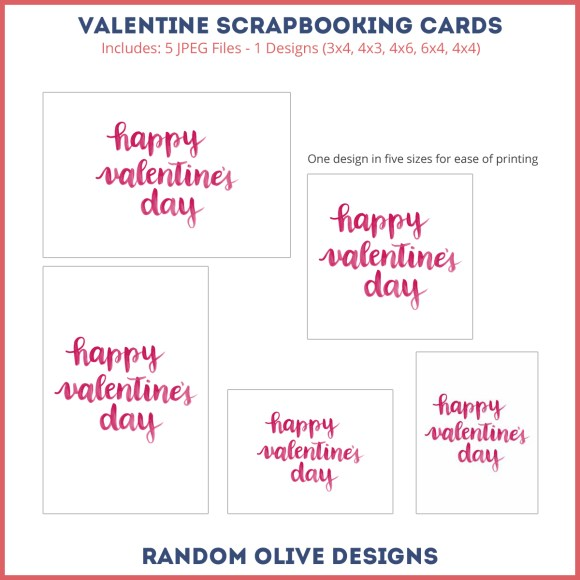 Valentine Printable Freebie