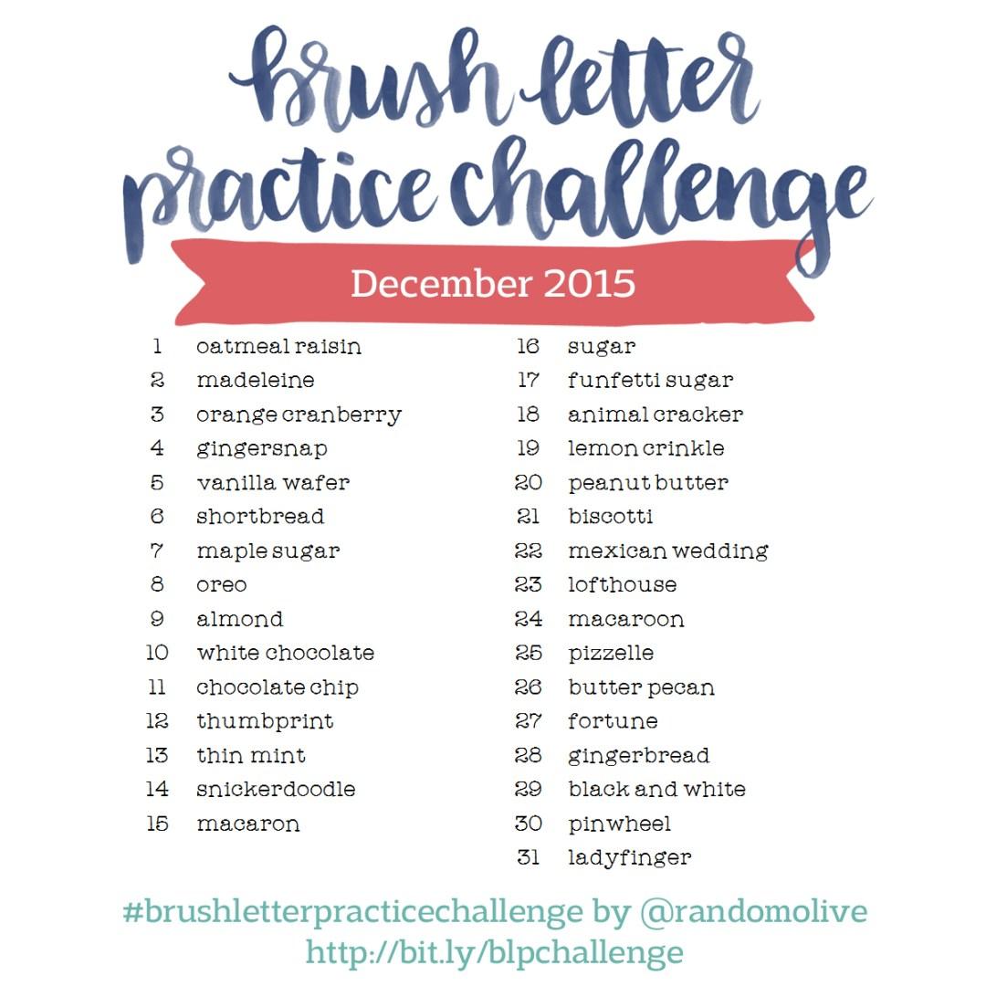 Brush Letter Practice Challenge - www.randomolive.com