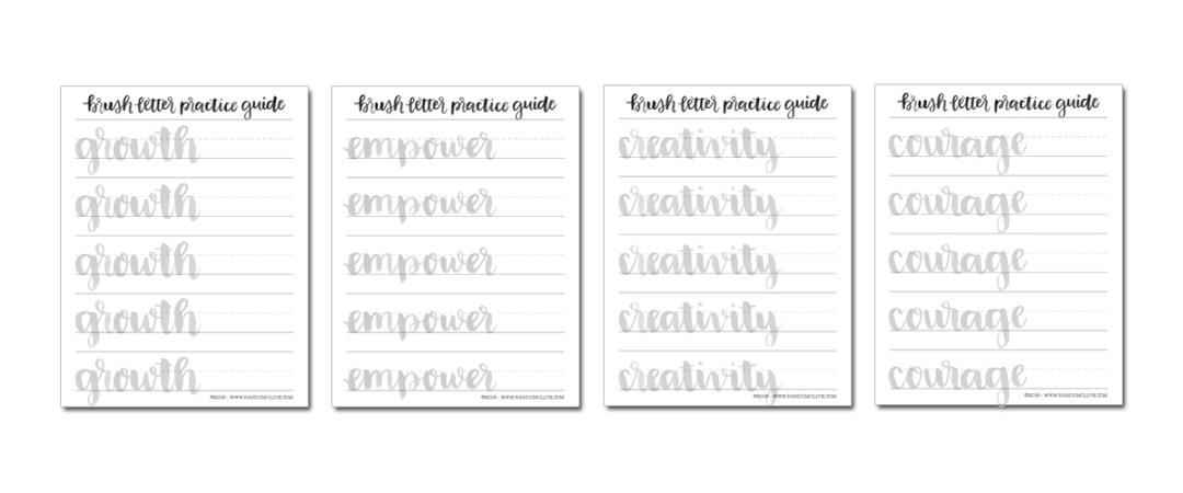 Brush Letter Practice Challenge - bit.ly/blpchallenge