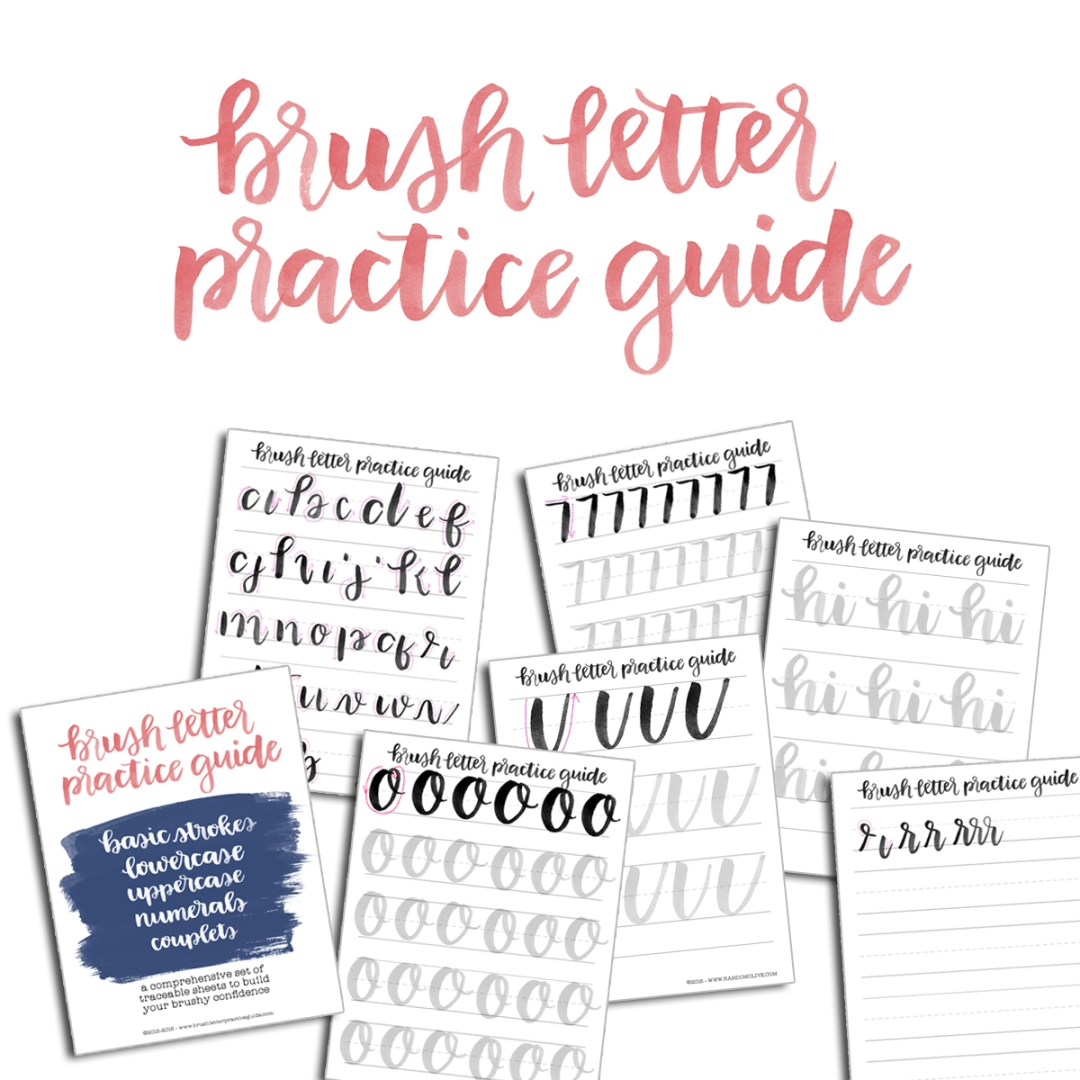 brush lettering font practice. click to shop brush lettering font practice