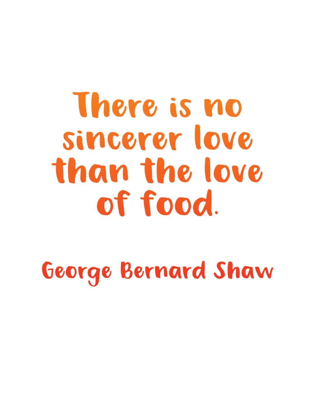 Printable Inspiration Food Quote By George Bernard Shaw Random Olive
