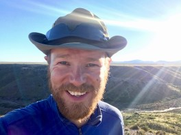 Happy face - now that's what I call a great wild camp...
