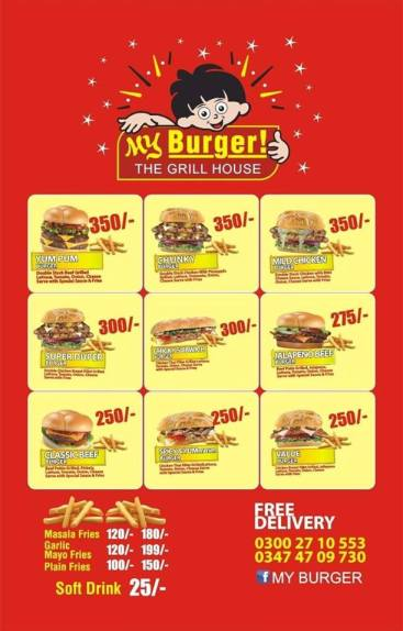 My burger menu