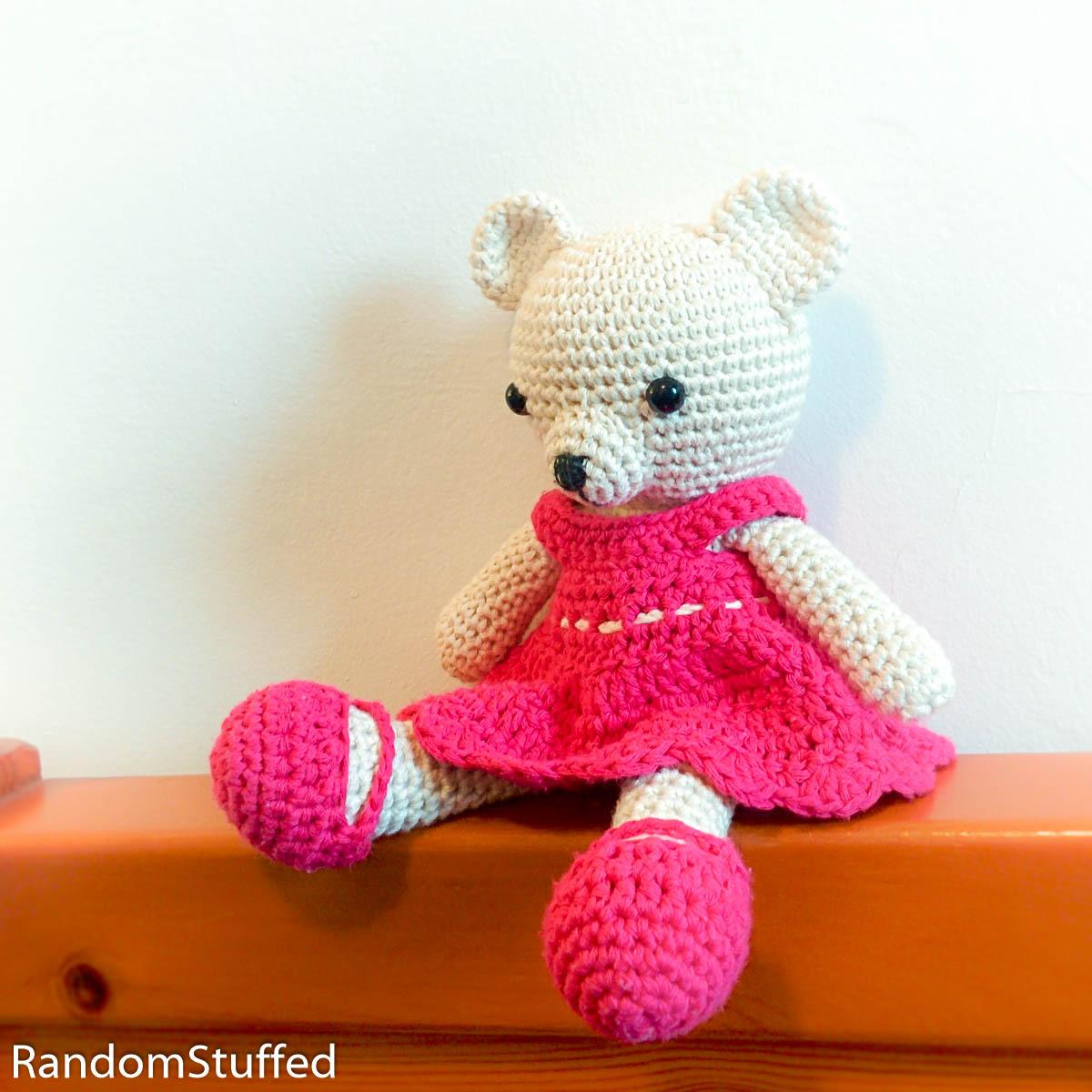 דובה מתוקה - הוראות סריגה