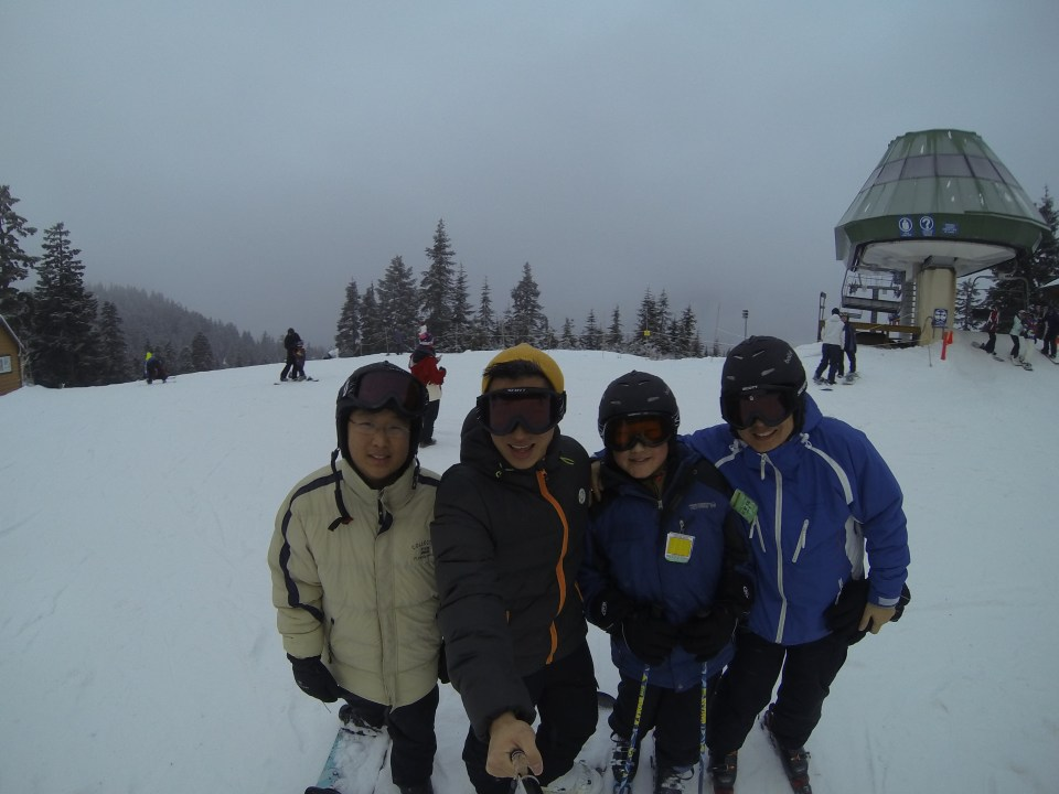 Snowboarding/skiing with uncle/bro/cousin