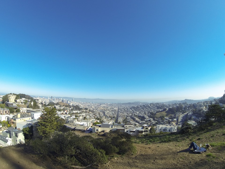 Jaw-dropping 180-degree view of the city at Tank Hill