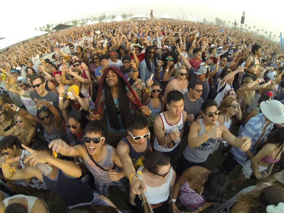 Crowd shot at Kid Cudi's Coachella 2014 set