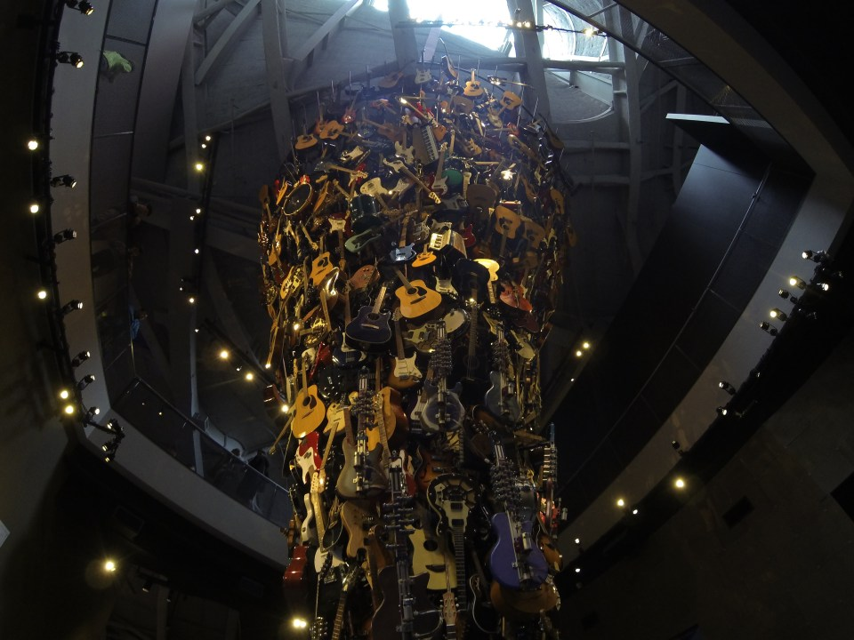 A ton of guitars at EMP Museum