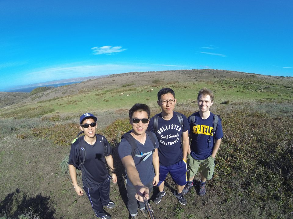 Hiking crew at Tomales Point Trail