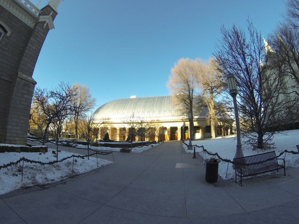 The spaceship-looking Salt Lake Tabernacle