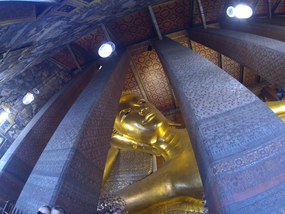 The Buddha reclining at Wat Pho (Temple of the Reclining Buddha)