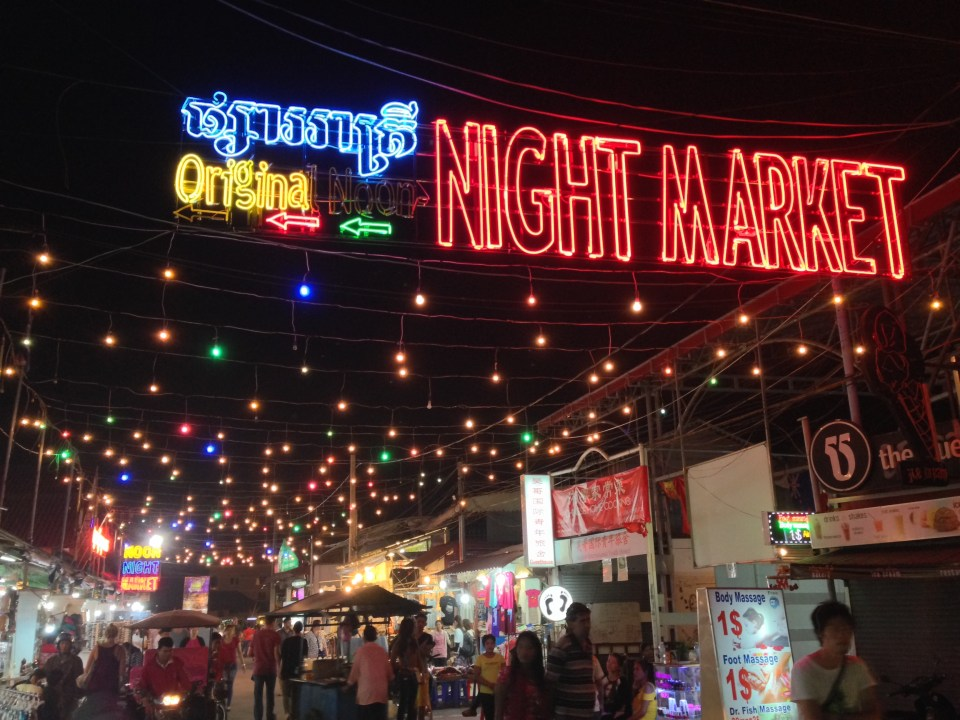 Original Noon night market in Siem Reap, Cambodia