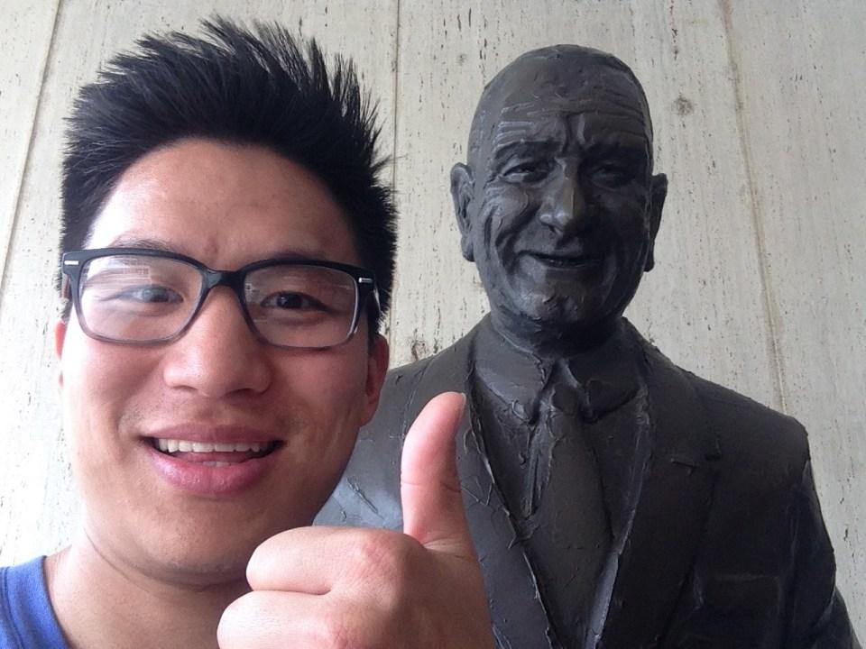 Selfie with President Johnson