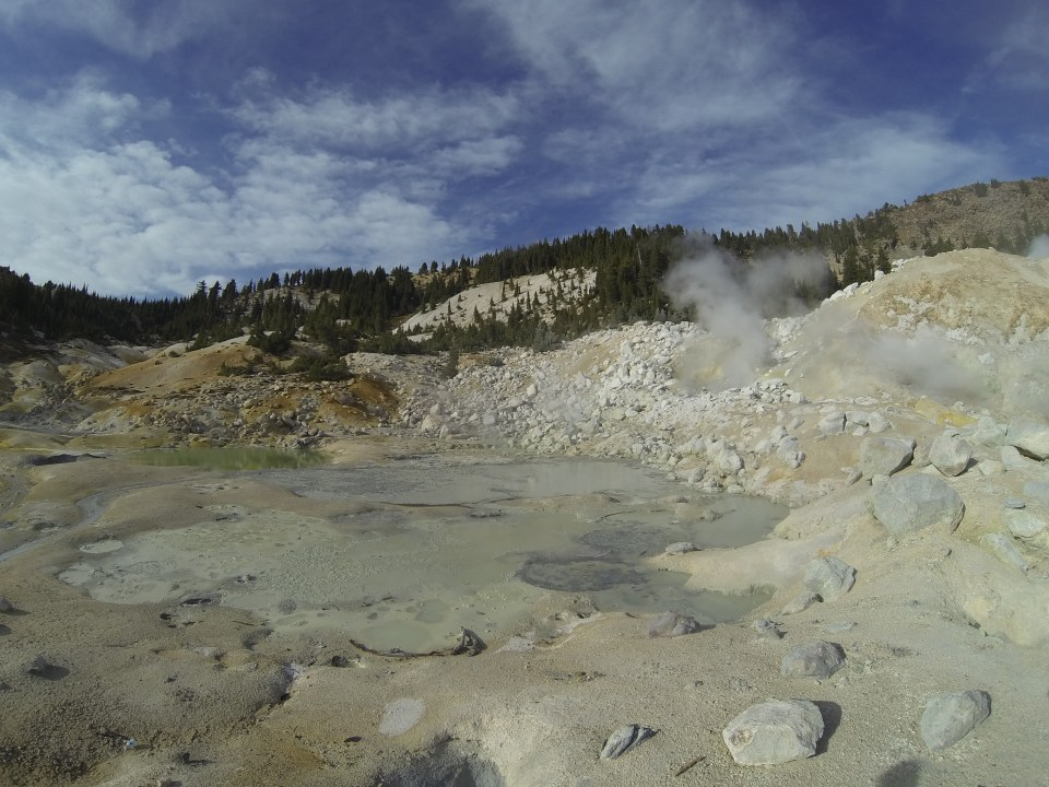 West Pyrite Pool and Big Boiler at Bumpass Hell