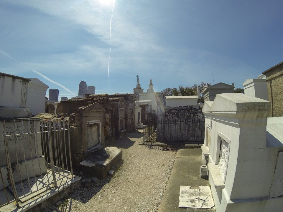 St. Louis Cemetery 1 crypts and mausoleums