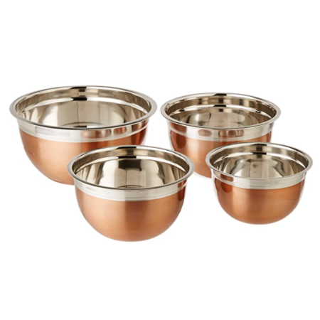copper kitchen mixing bowls