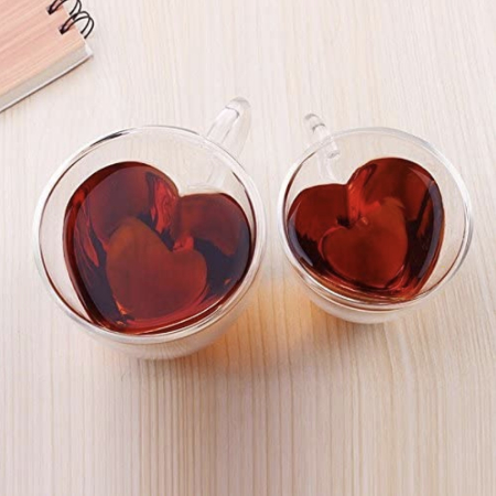 heart shaped tea cup
