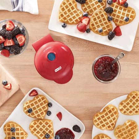 heart shaped waffled maker